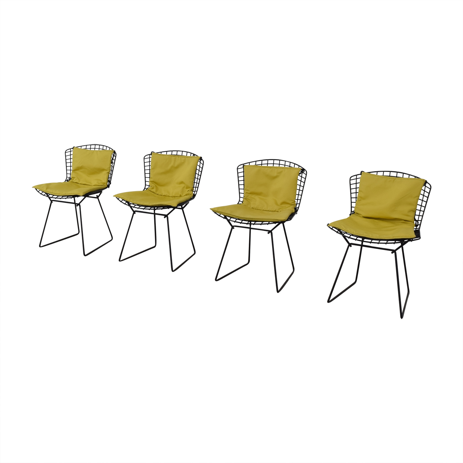 Knoll Bertoia Wire Chairs with Ligne Roset Cushions dimensions