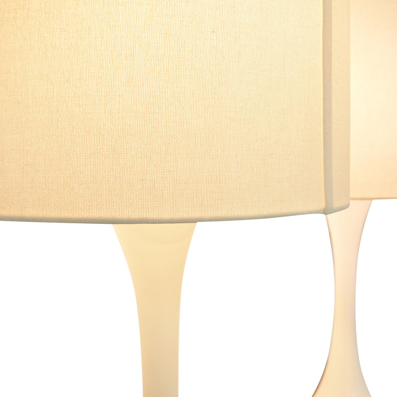 CB2 White Linen Ada Lamps sale