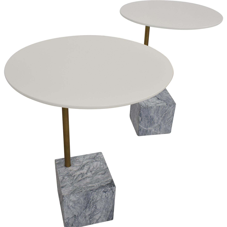 West Elm Cube C-Side Tables sale