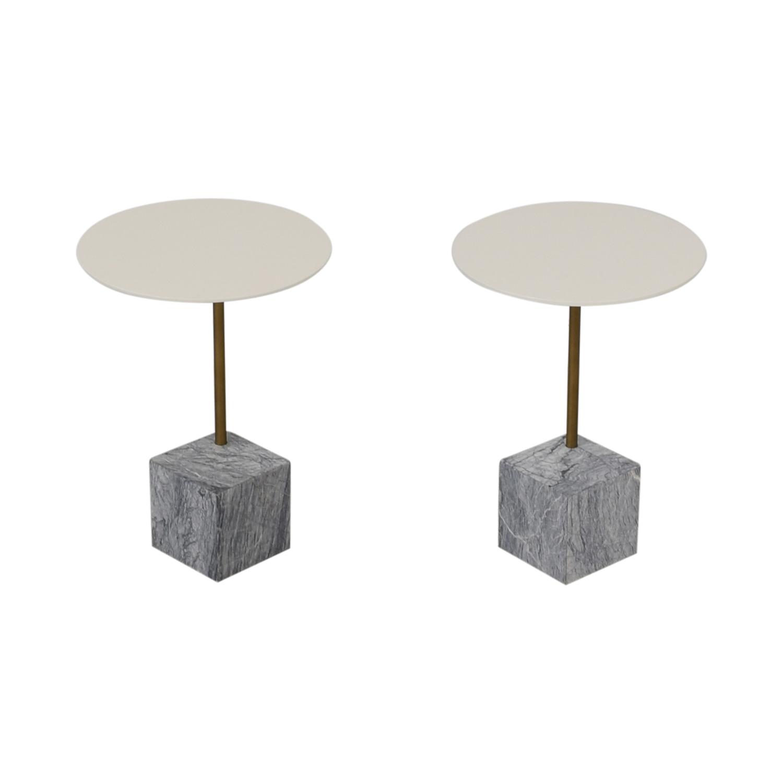 buy West Elm Cube C-Side Tables West Elm End Tables