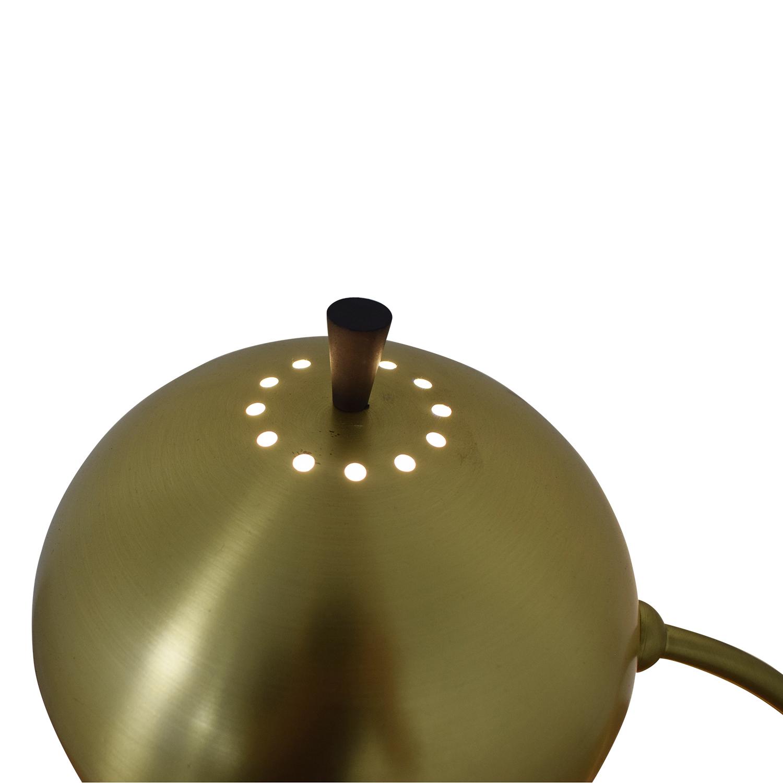 buy West Elm Petite Arc Metal Table Lamp Antique Brass West Elm