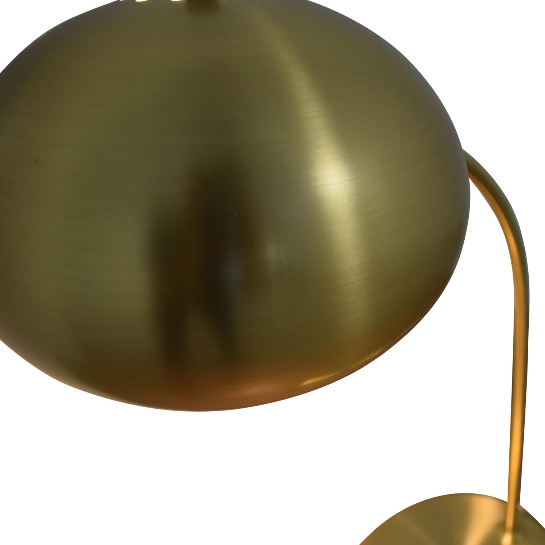 shop West Elm Petite Arc Metal Table Lamp Antique Brass West Elm Decor