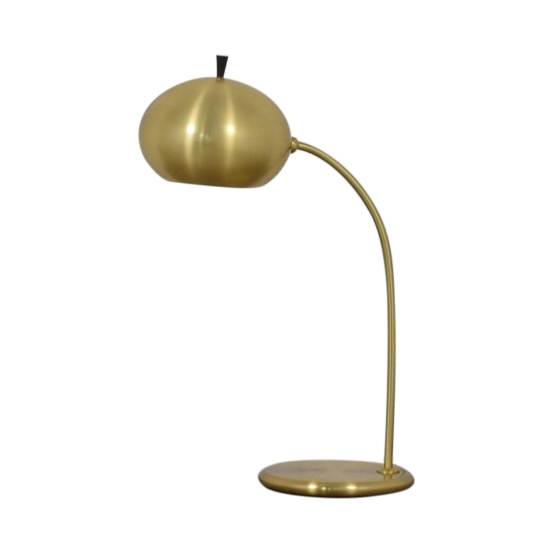 West Elm Petite Arc Metal Table Lamp Antique Brass / Decor