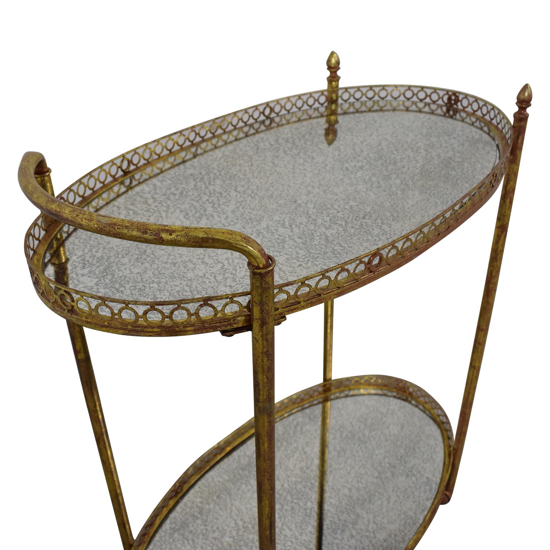 buy Mistana Antique Gold Metal Bar Cart Mistana