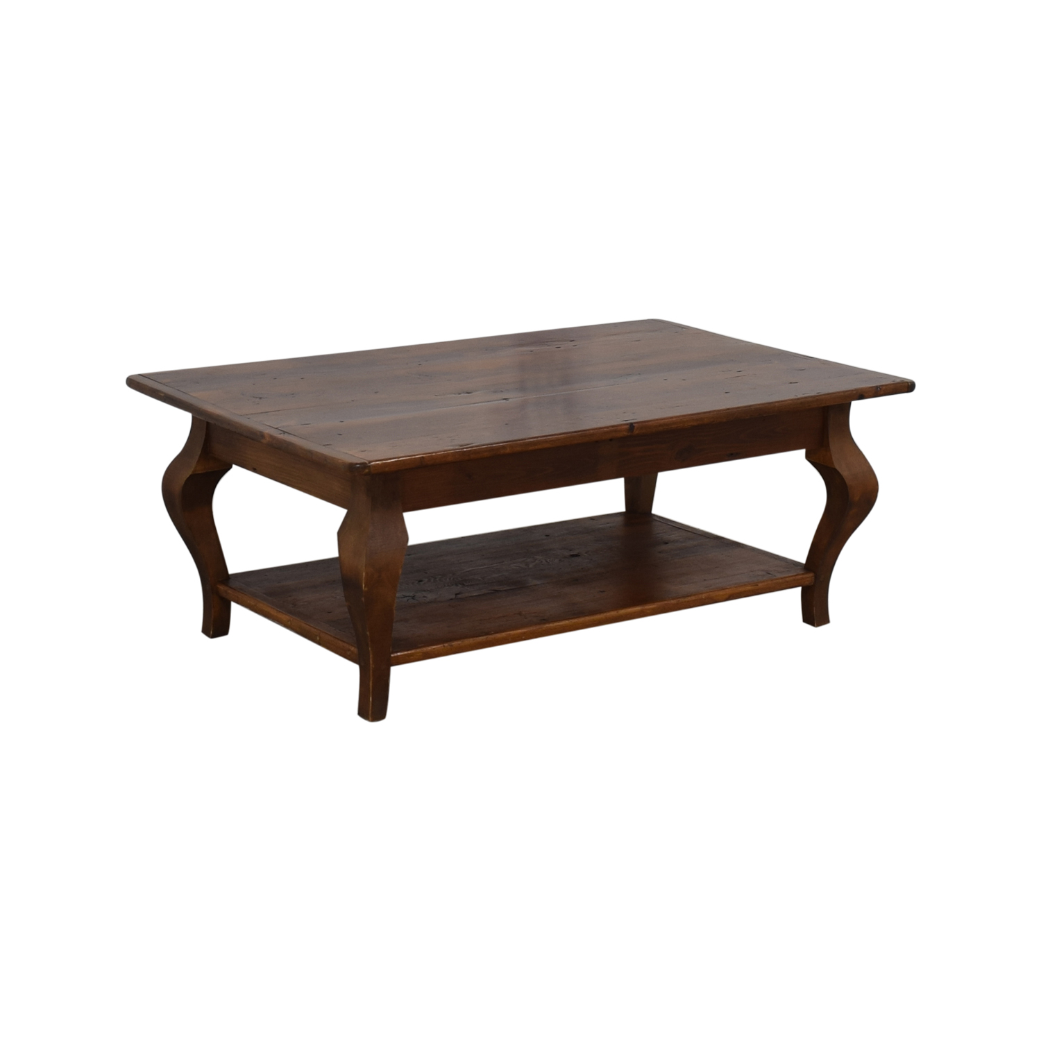 Country Willow Silverlake Coffee Table with Cabriole Legs / Coffee Tables