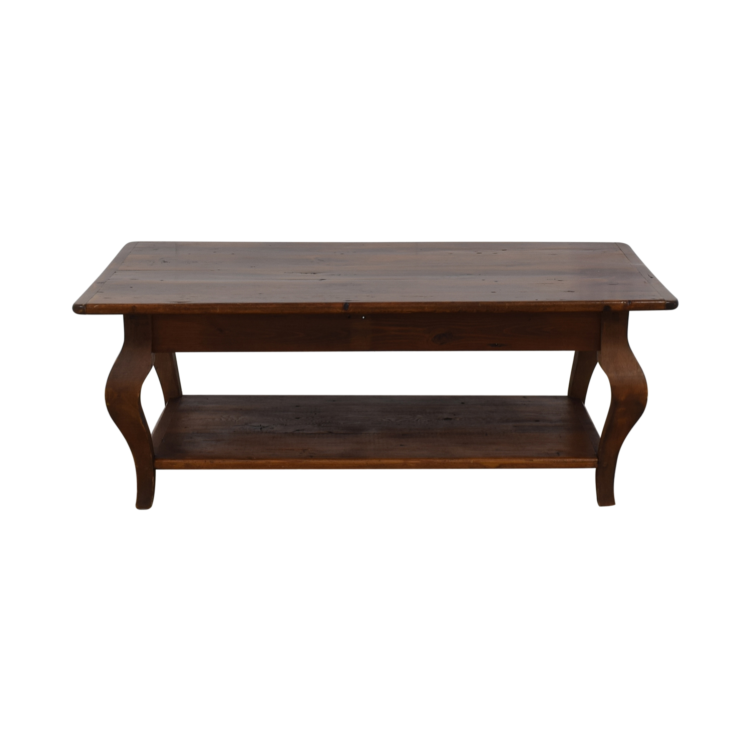 buy Country Willow Silverlake Coffee Table with Cabriole Legs Country Willow