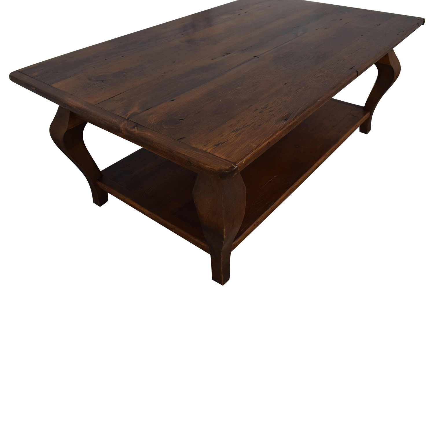 shop Country Willow Silverlake Coffee Table with Cabriole Legs Country Willow Coffee Tables