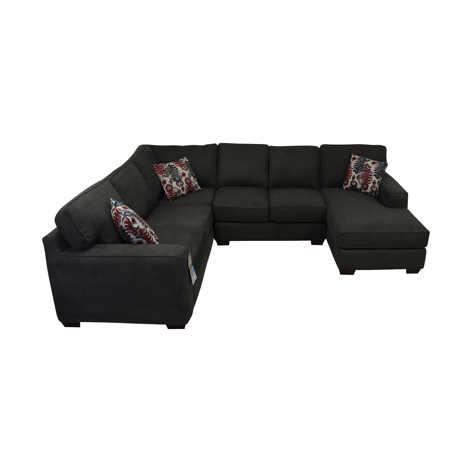 buy Klaussner Abbott Three-Piece Chaise Sectional Sofa Klaussner Sectionals