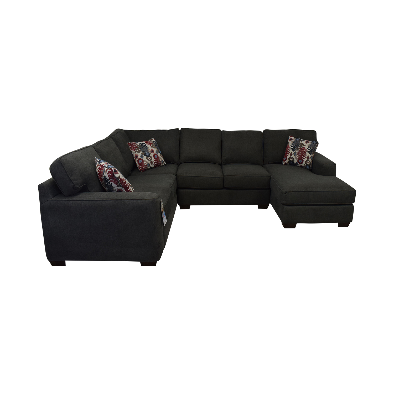 42% OFF - Klaussner Klaussner Abbott Three-Piece Chaise Sectional ...