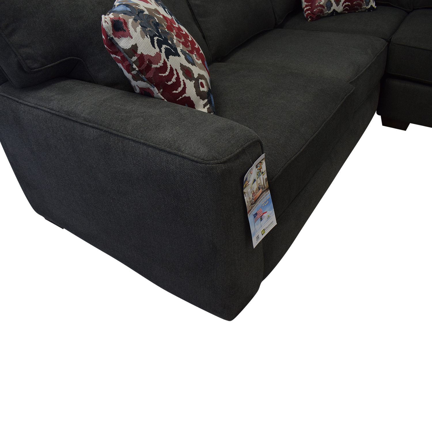 shop Klaussner Abbott Three-Piece Chaise Sectional Sofa Klaussner Sofas