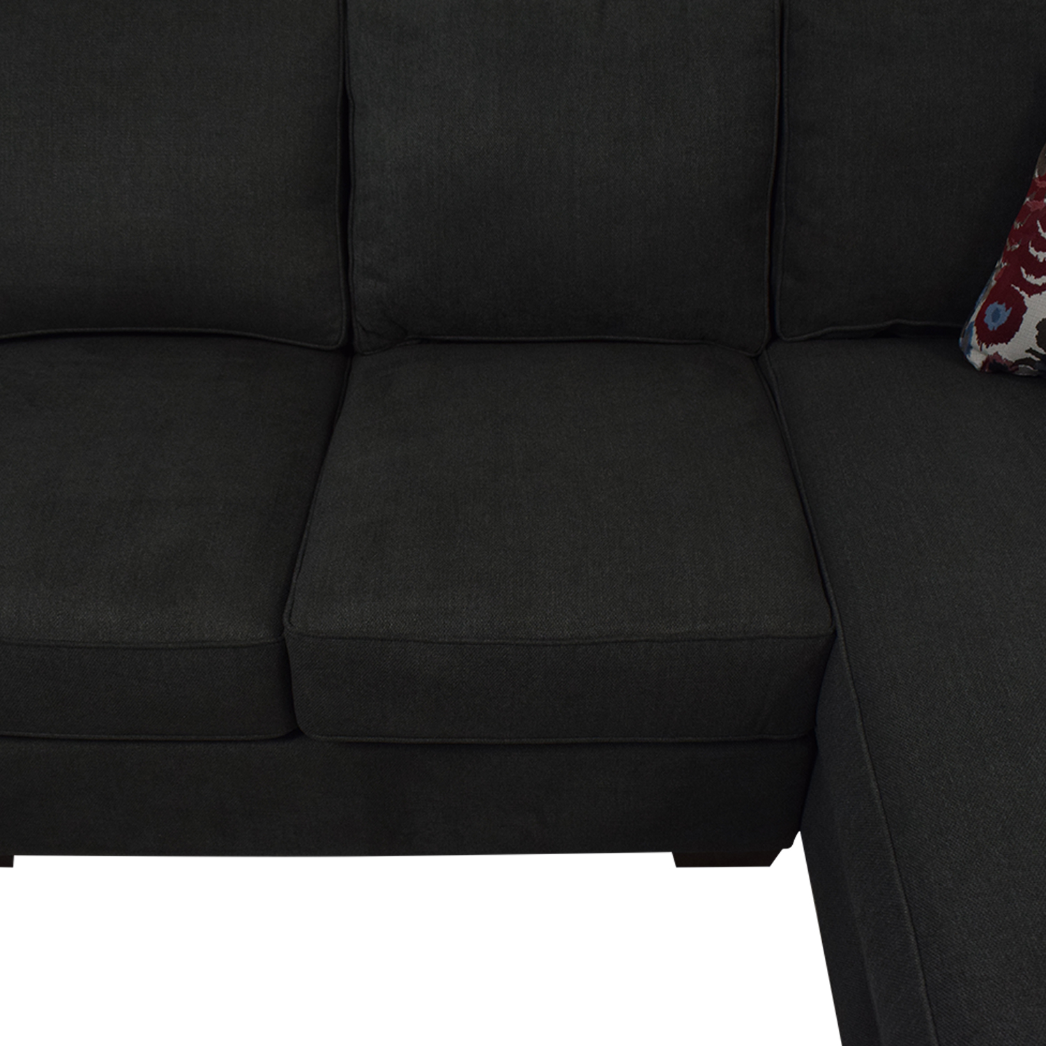 Klaussner Klaussner Abbott Three-Piece Chaise Sectional Sofa dimensions