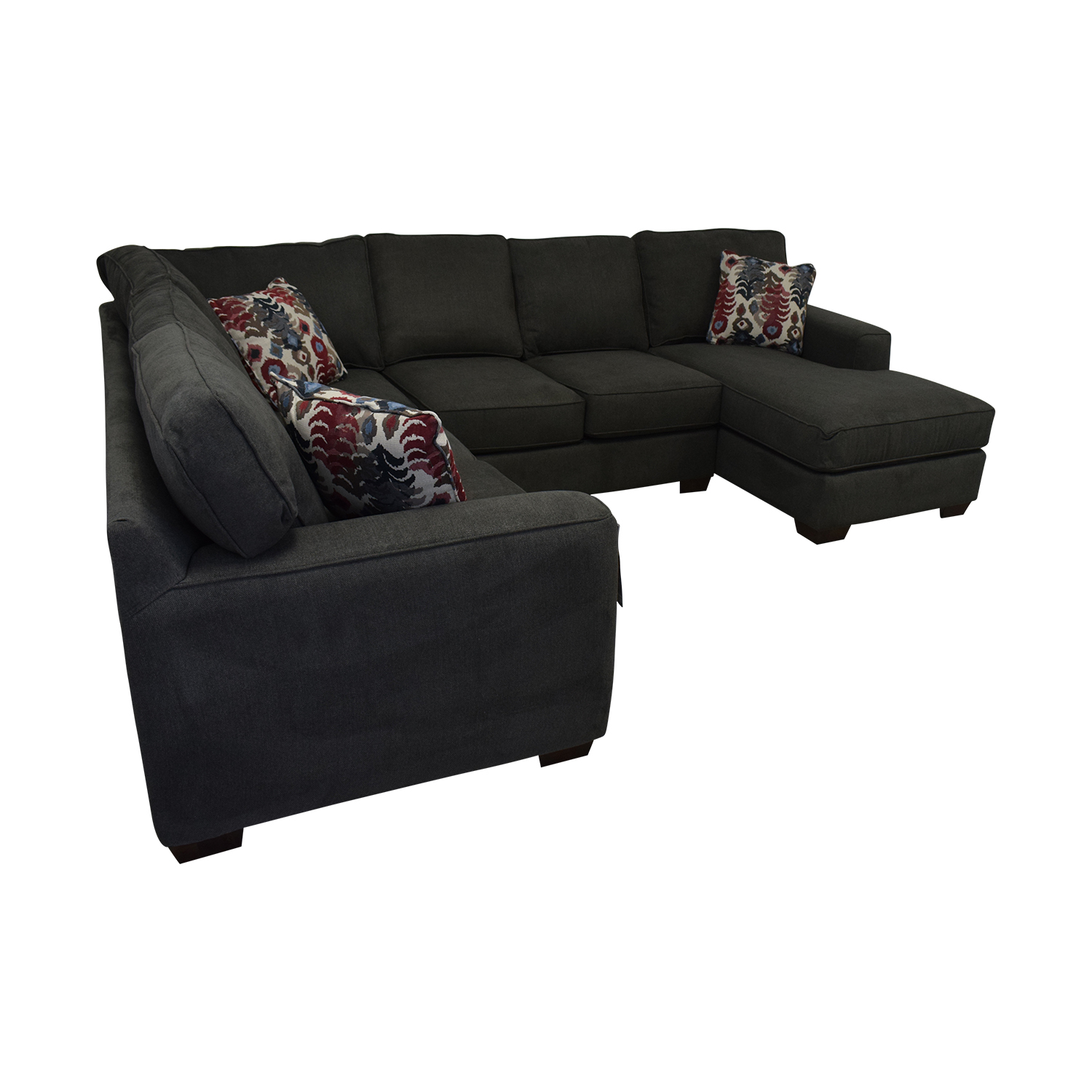 Klaussner Abbott Three-Piece Chaise Sectional Sofa / Sofas