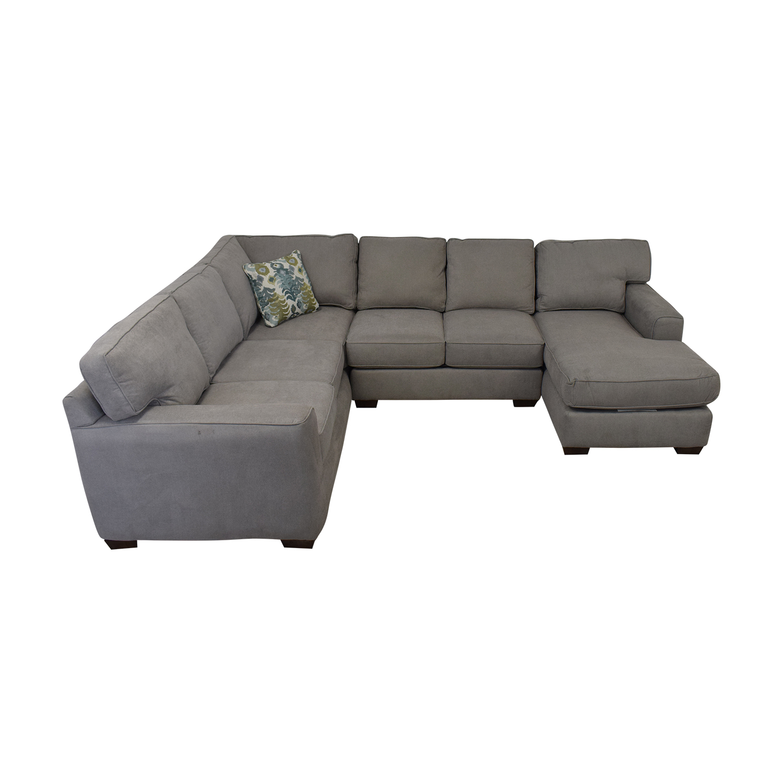 Klaussener Abbott Three-Piece Chaise Sectional Sofa Klaussner