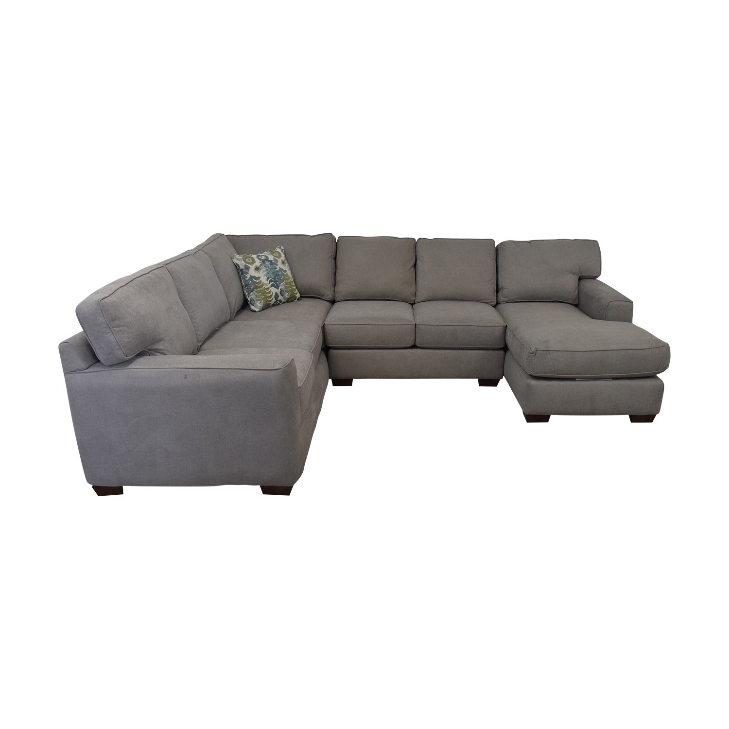 Klaussener Abbott Three-Piece Chaise Sectional Sofa Klaussner