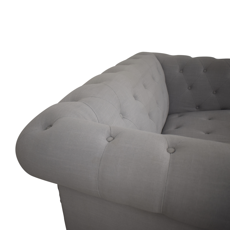 PBteen PBTeen Chesterfield Chair + Half Twin Sleeper on sale