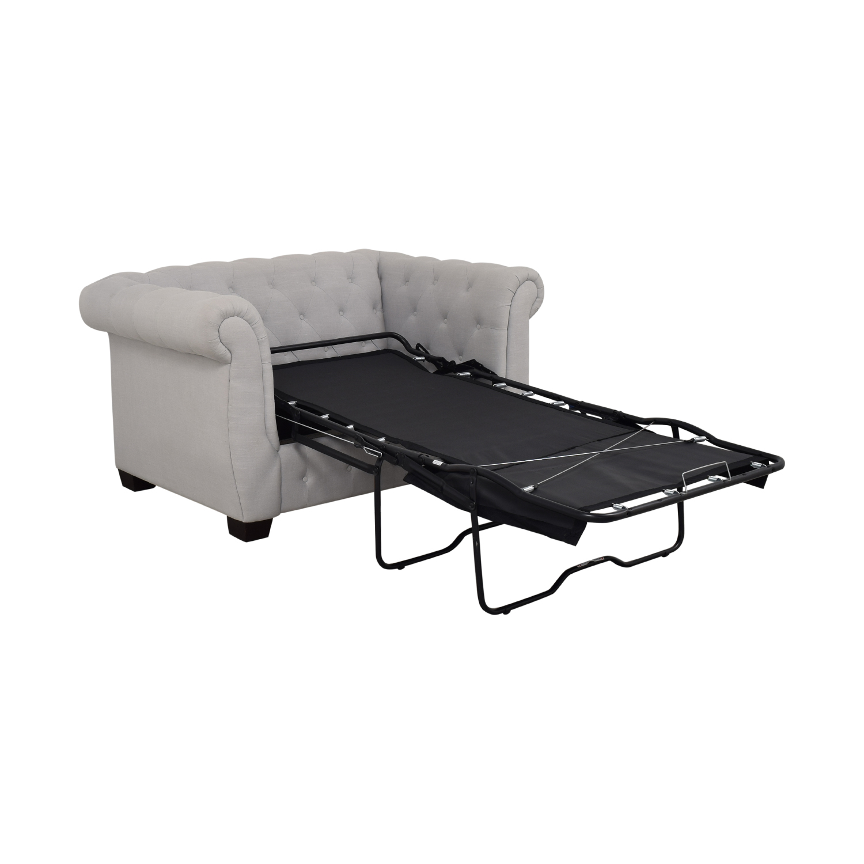 PBTeen Chesterfield Chair + Half Twin Sleeper sale