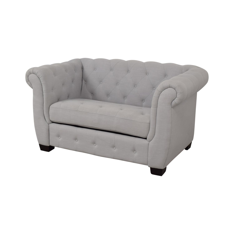 PBTeen Chesterfield Chair + Half Twin Sleeper PBteen