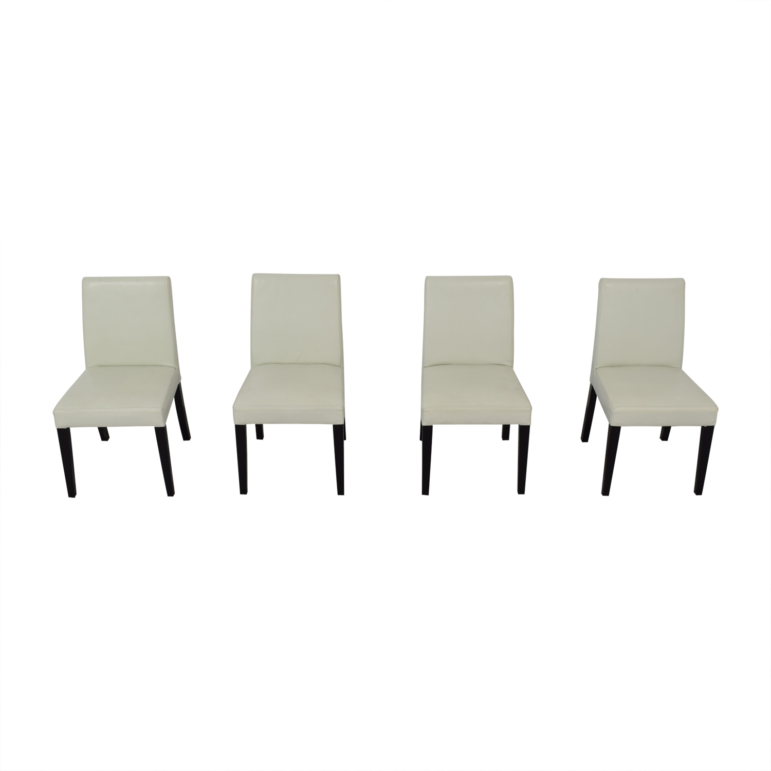 shop Crate & Barrel White Leather Dining Chairs Crate & Barrel
