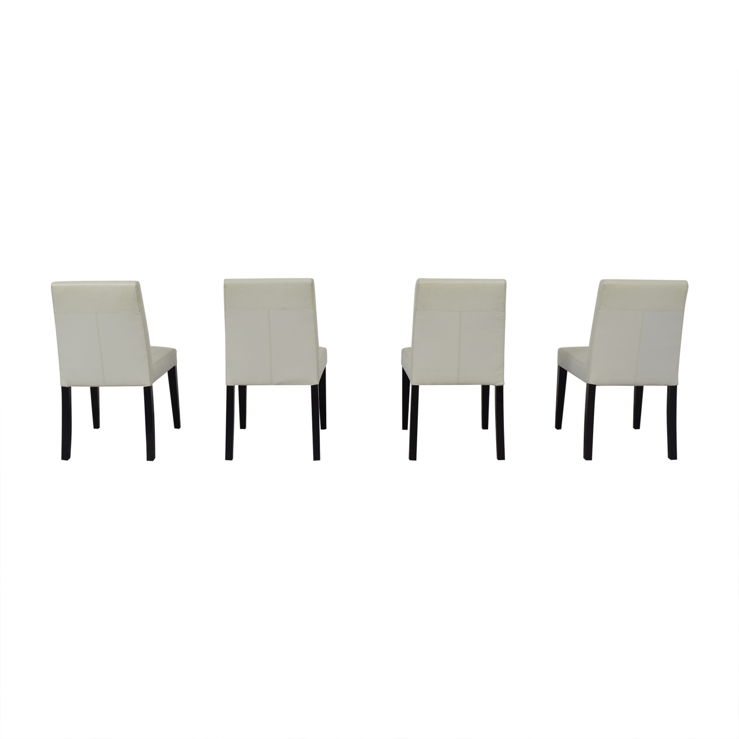 Crate & Barrel Crate & Barrel White Leather Dining Chairs price