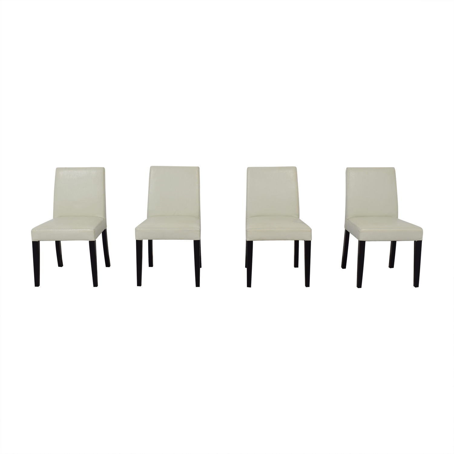 Crate & Barrel Crate & Barrel White Leather Dining Chairs coupon