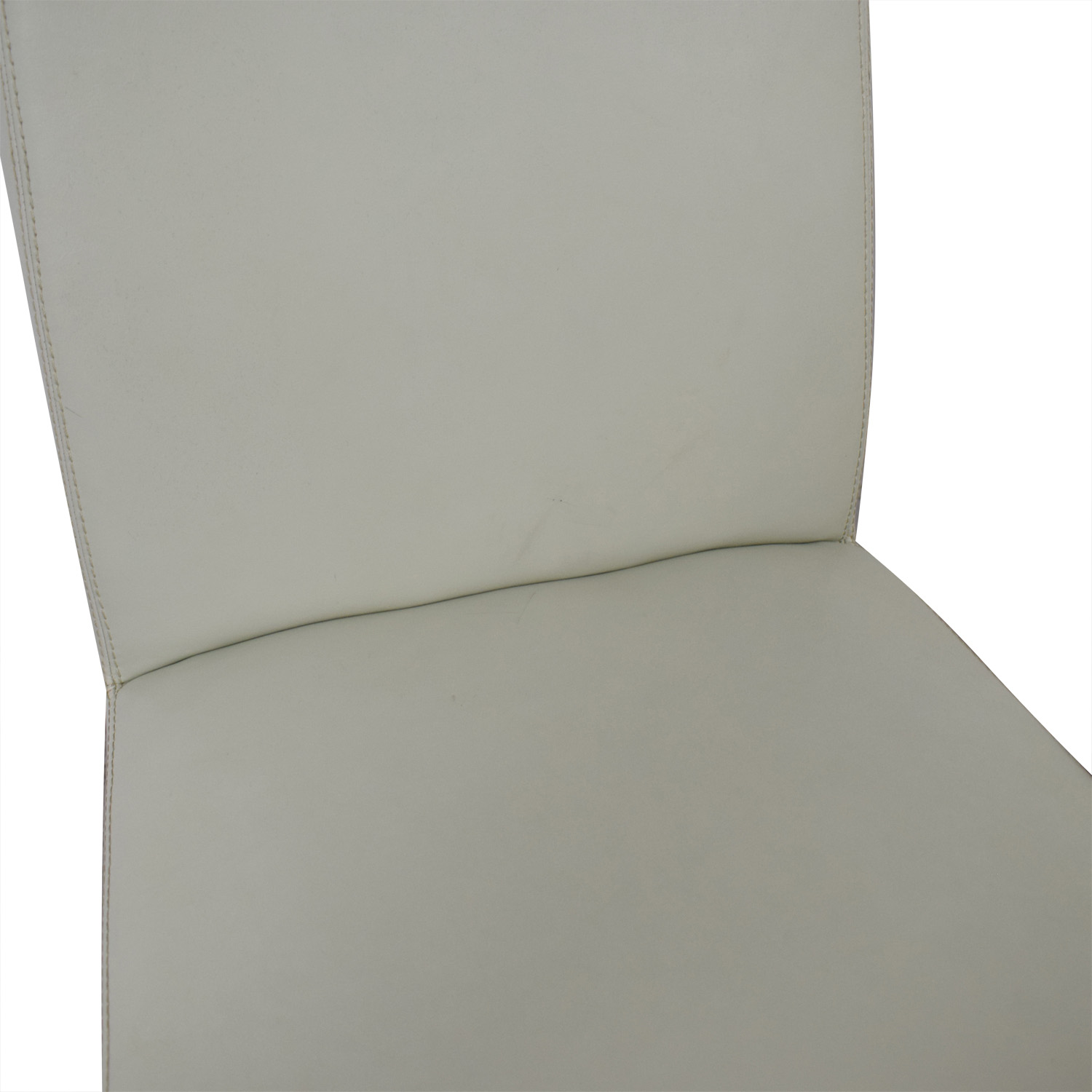Crate & Barrel White Leather Dining Chairs sale