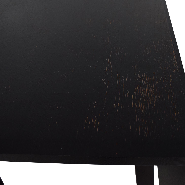 buy Crate & Barrel Black Wood Dining Table Crate & Barrel Tables