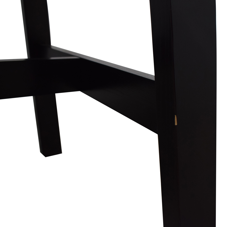 Crate & Barrel Black Wood Dining Table sale