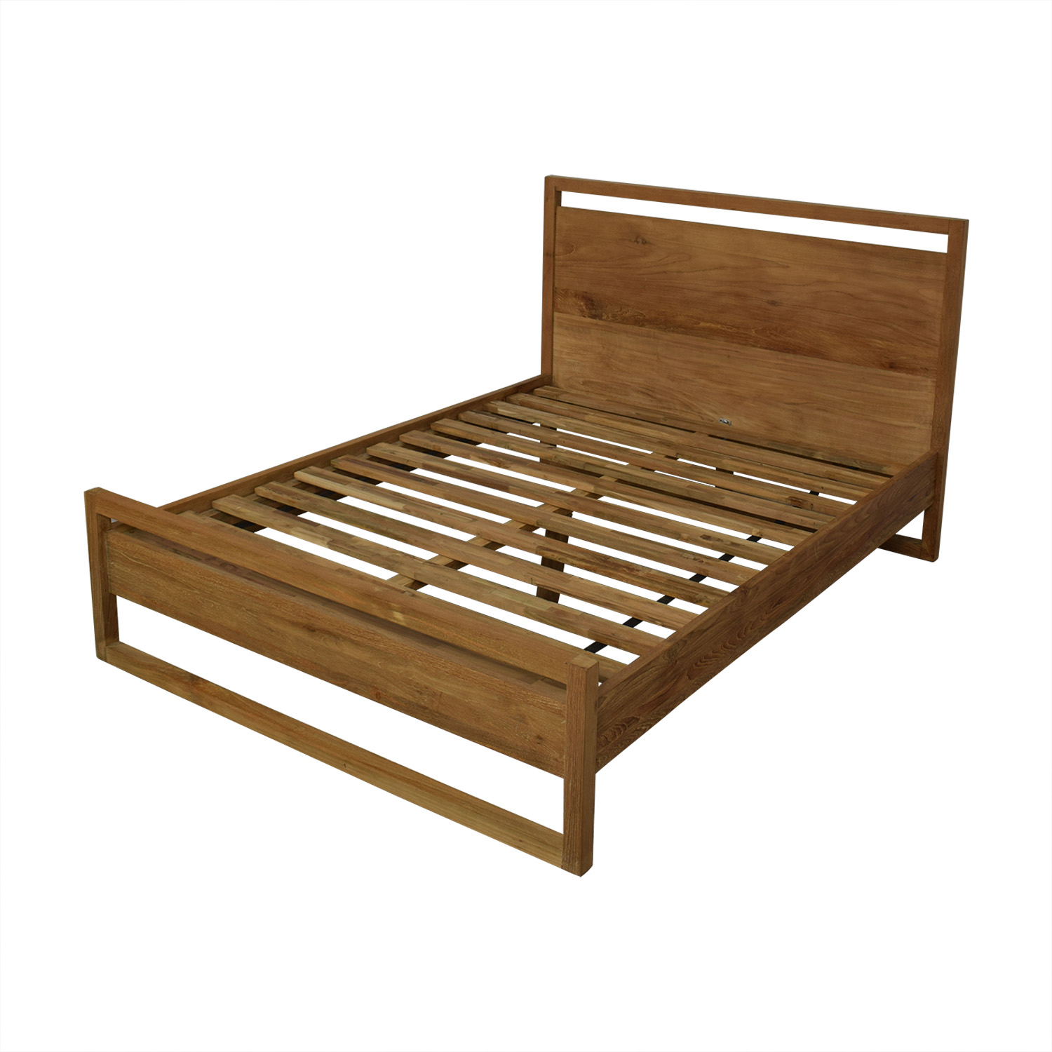 shop Crate & Barrel Linea II Queen Bed Frame Crate & Barrel