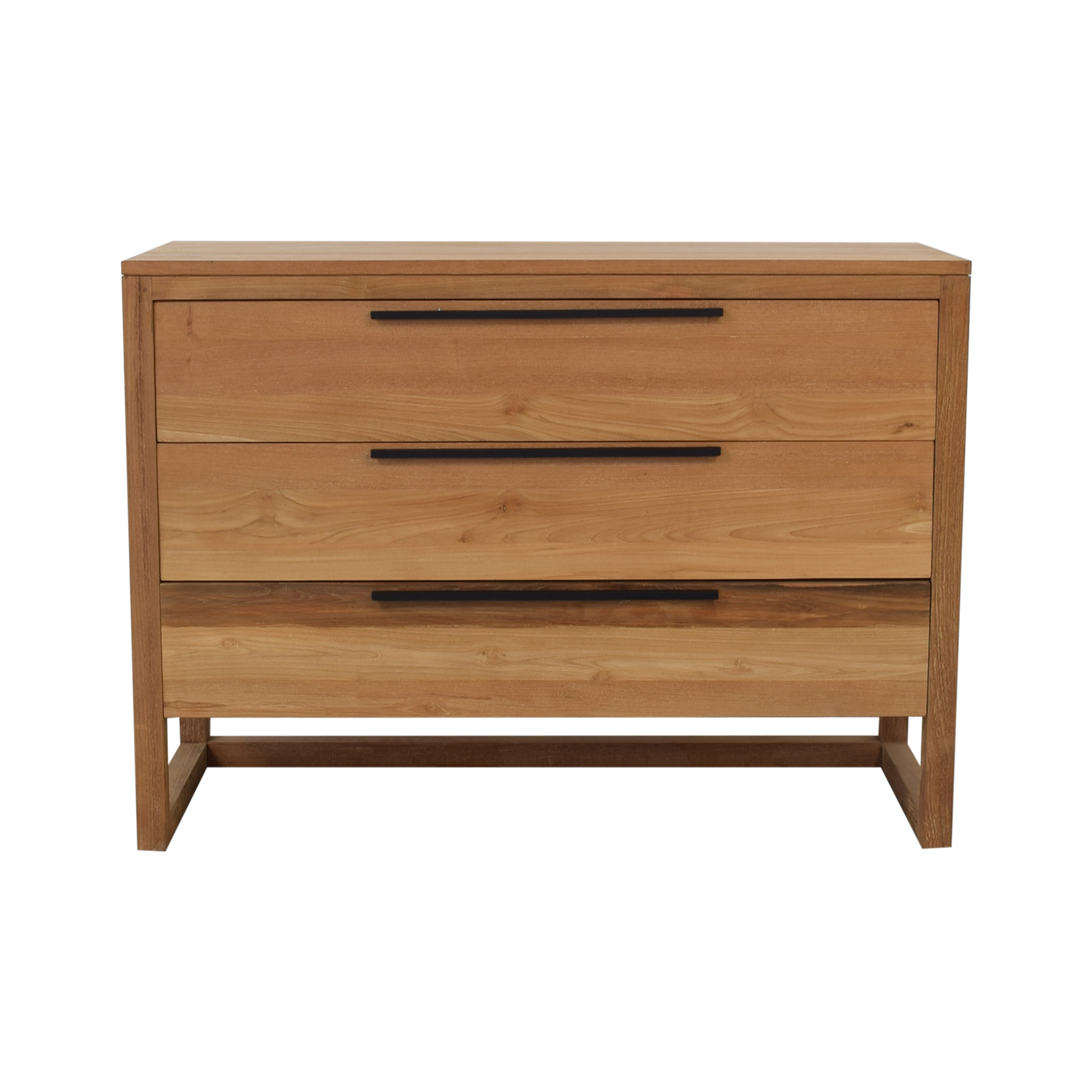Crate & Barrel Crate & Barrel Linea II Natural Three-Drawer Chest on sale