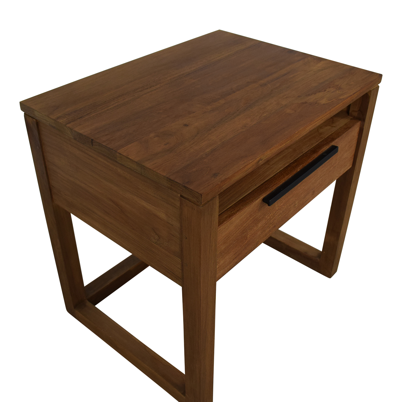 Crate & Barrel Crate & Barrel Linea II Natural Nightstand discount