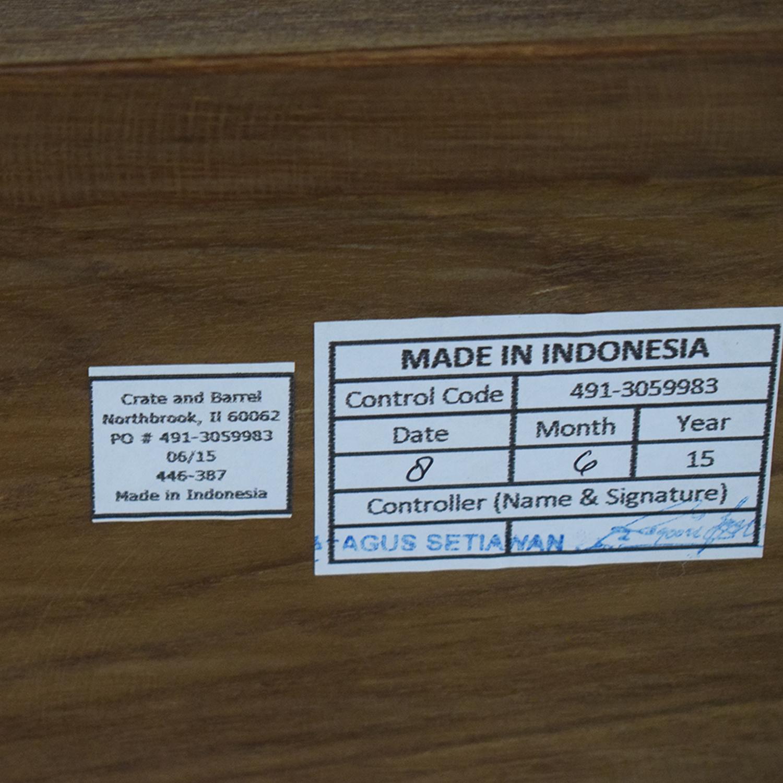 Crate & Barrel Crate & Barrel Linea II Natural Nightstand price
