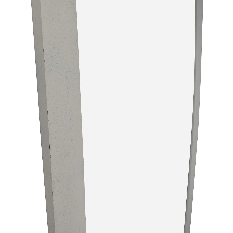 Crate & Barrel Crate & Barrel White Floor Mirror dimensions