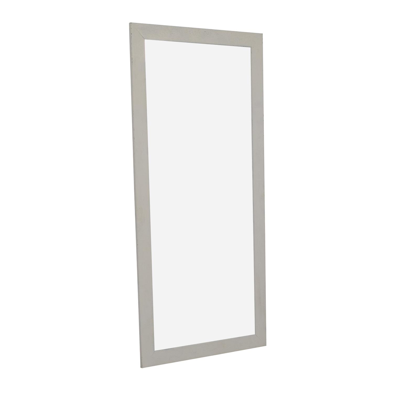 Crate & Barrel Crate & Barrel White Floor Mirror used