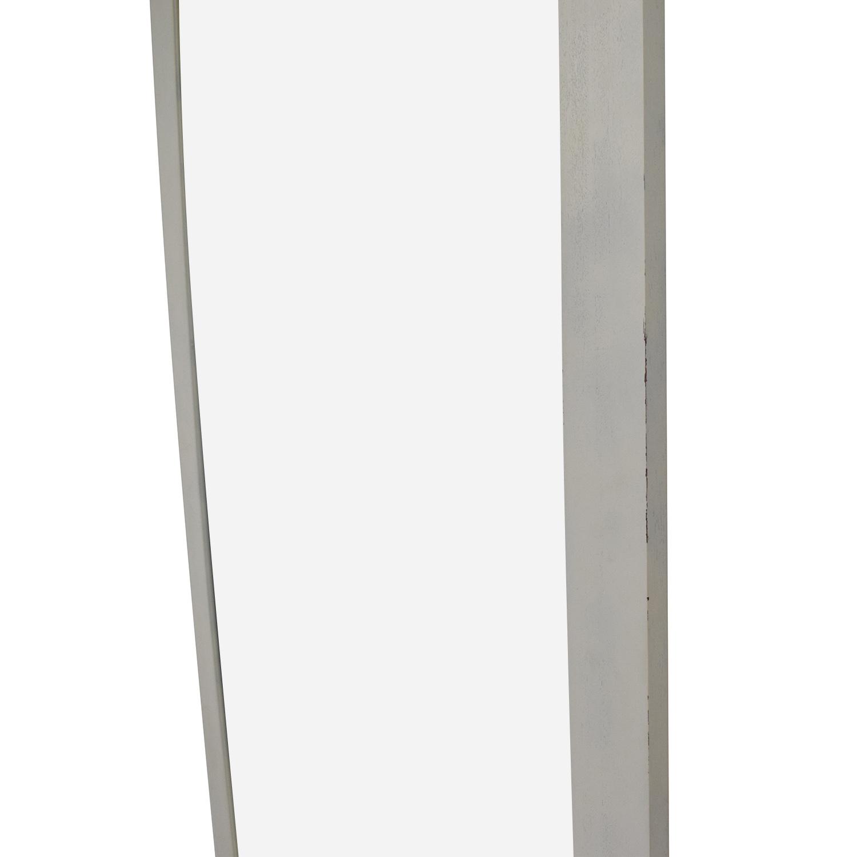 Crate & Barrel Crate & Barrel White Floor Mirror second hand