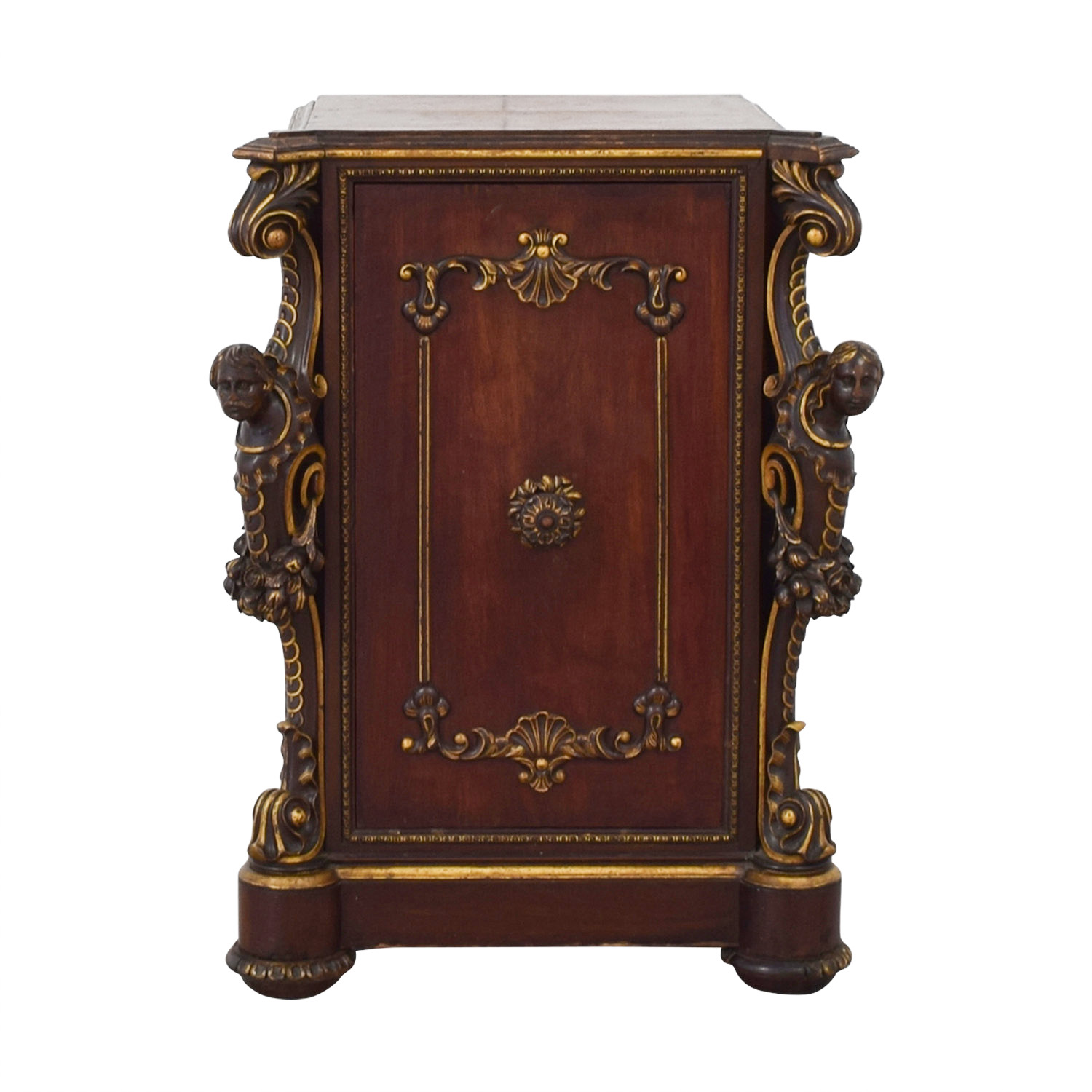 ABC Carpet & Home ABC Carpet & Home Antique Cabinet with Gothic Heads for sale