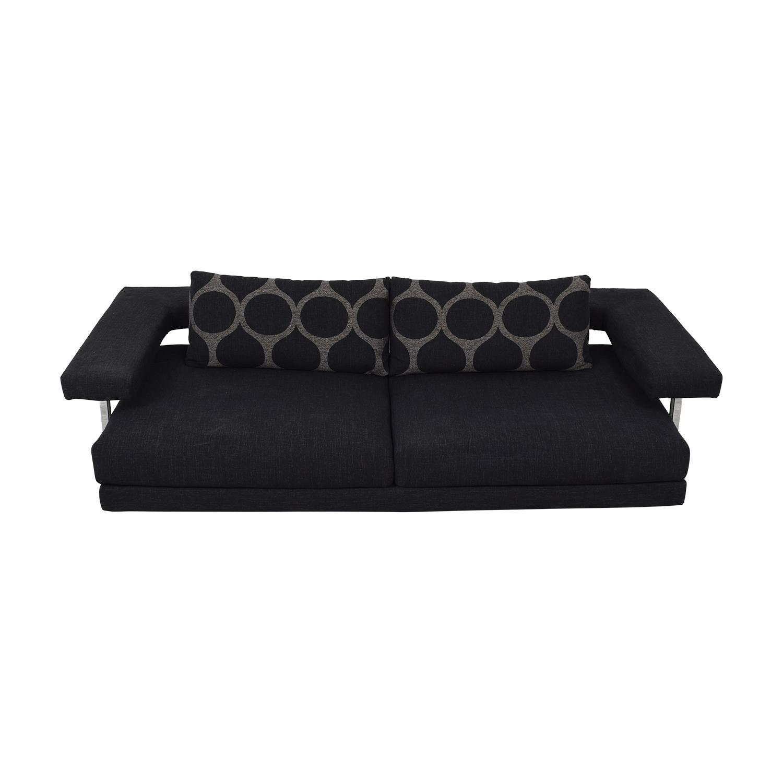 77% OFF - Accadueo Accadueo Modern Grey Fabric Italian Sofa / Sofas