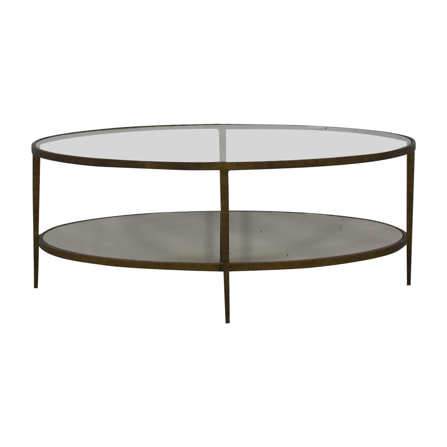 60 Off Crate Barrel Clairemont Oval Coffee Table Tables