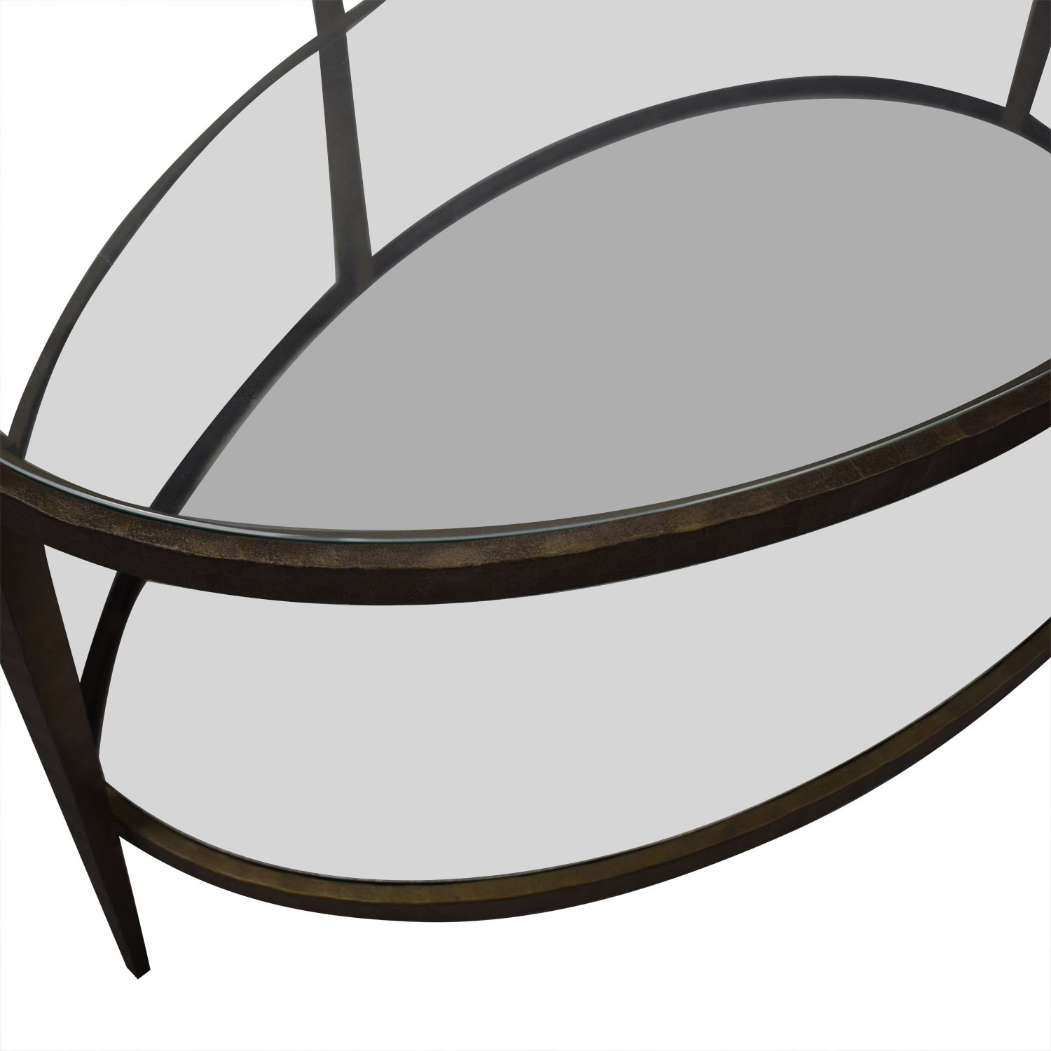 Crate & Barrel Crate & Barrel Clairemont Oval Coffee Table for sale