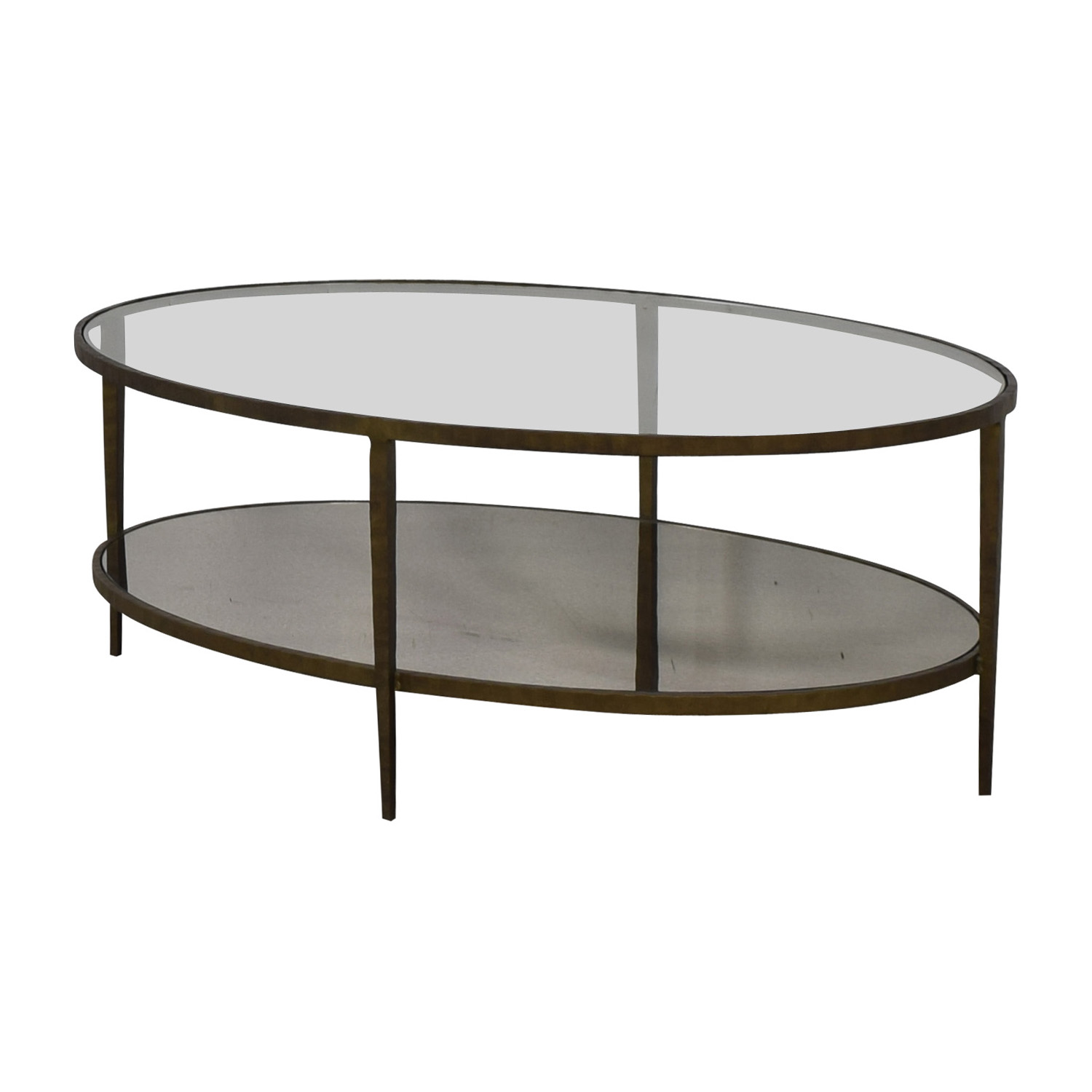 Crate & Barrel Crate & Barrel Clairemont Oval Coffee Table bronze
