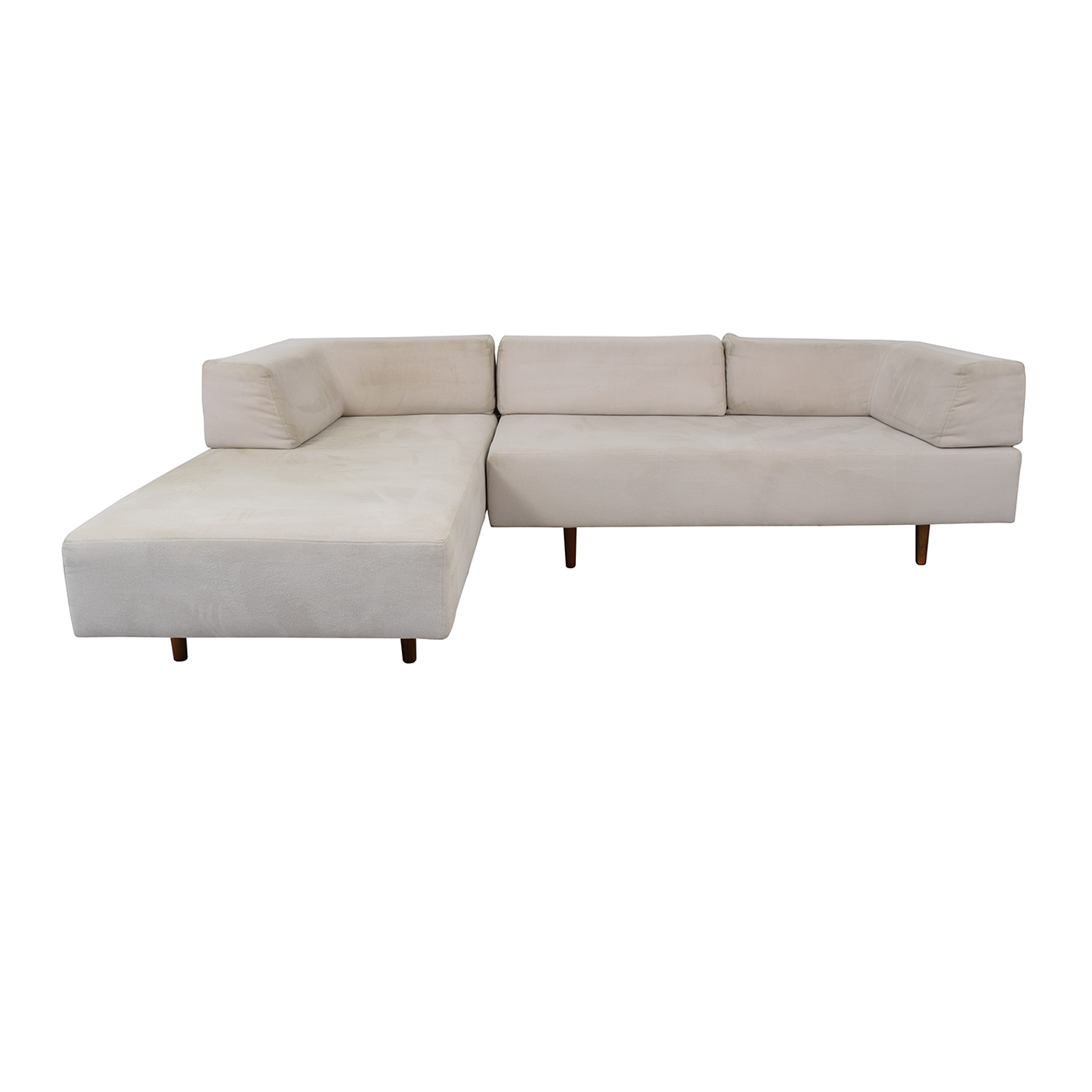 63% OFF - West Elm West Elm Tillary Sectional Sofa and Chaise Lounge ...