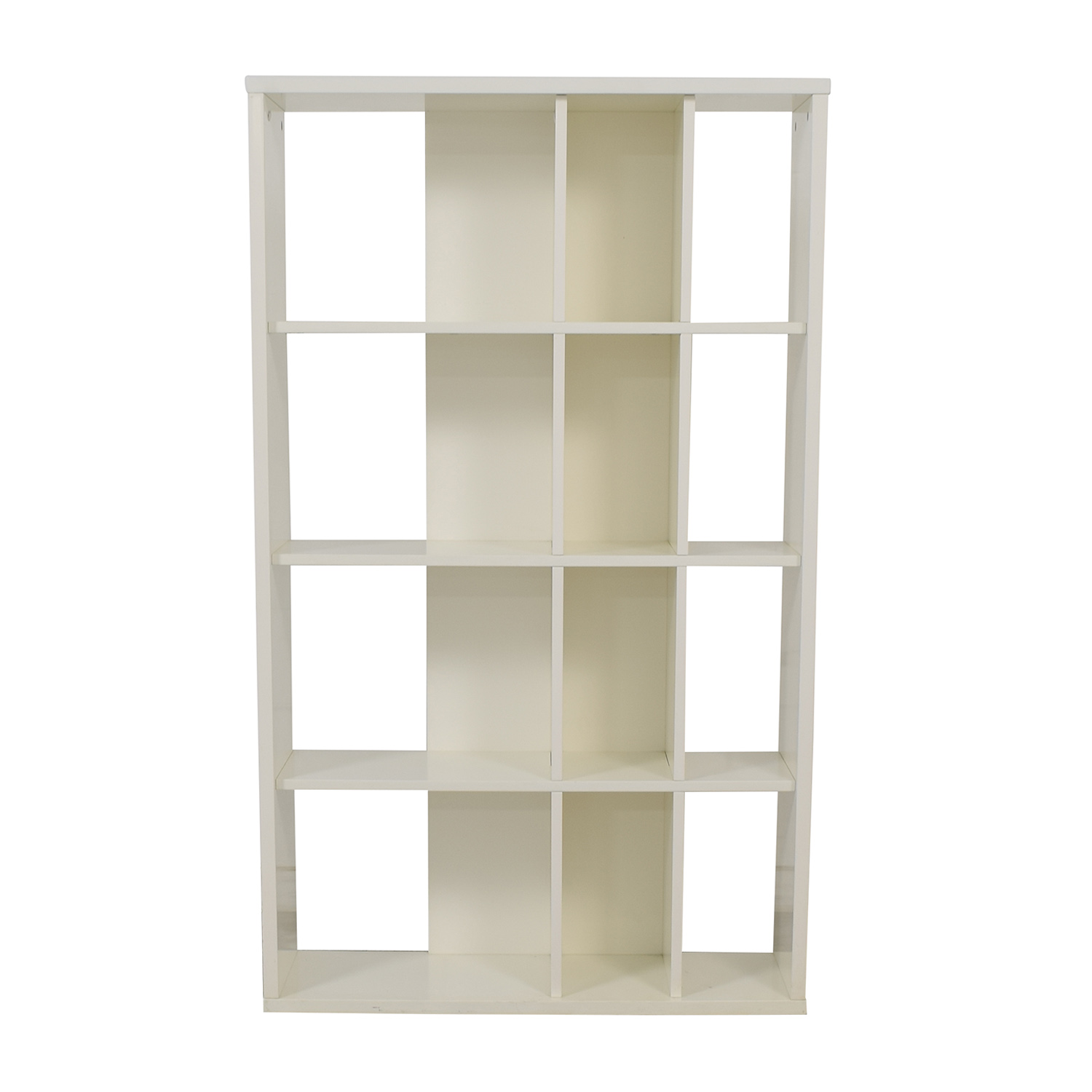 buy Crate & Barrel White Bookcase Crate & Barrel Storage