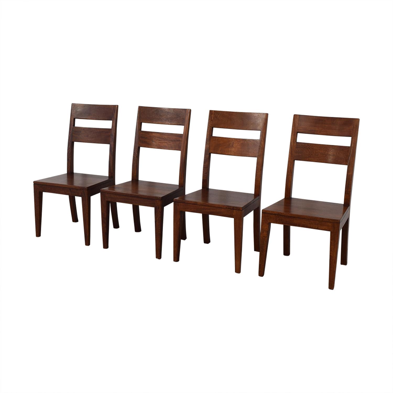 Crate & Barrel Crate & Barrel Basque Chairs discount