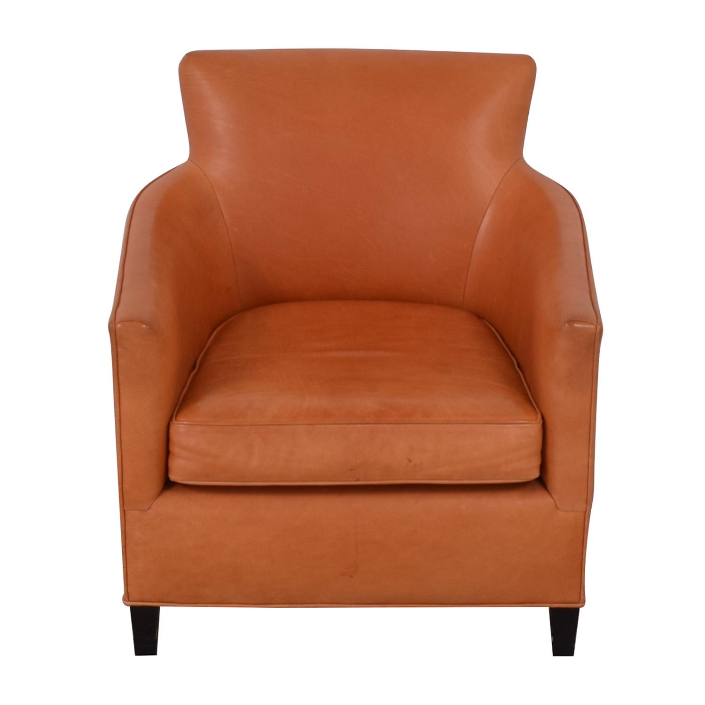Crate & Barrel Crate & Barrel Orange Accent Chair second hand