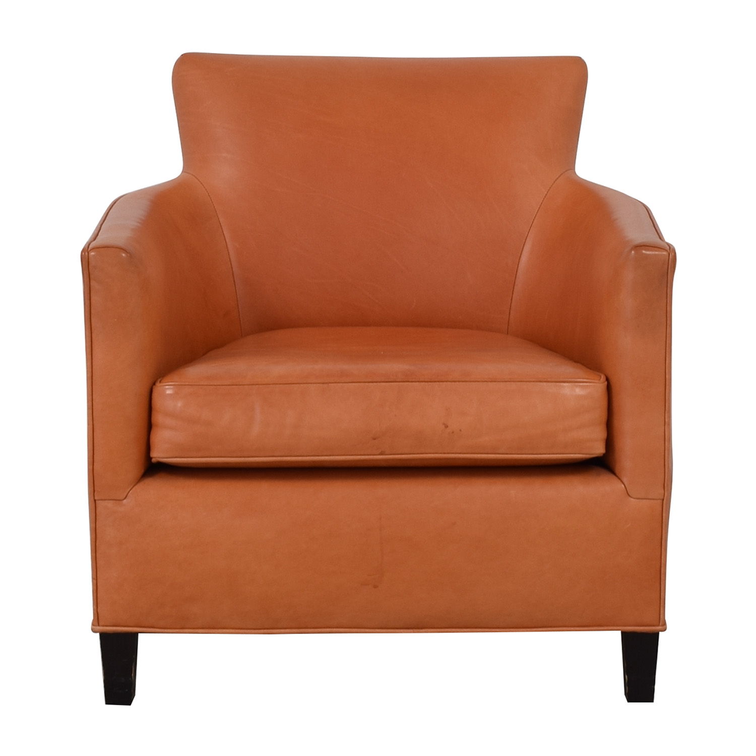 shop Crate & Barrel Orange Accent Chair Crate & Barrel Chairs