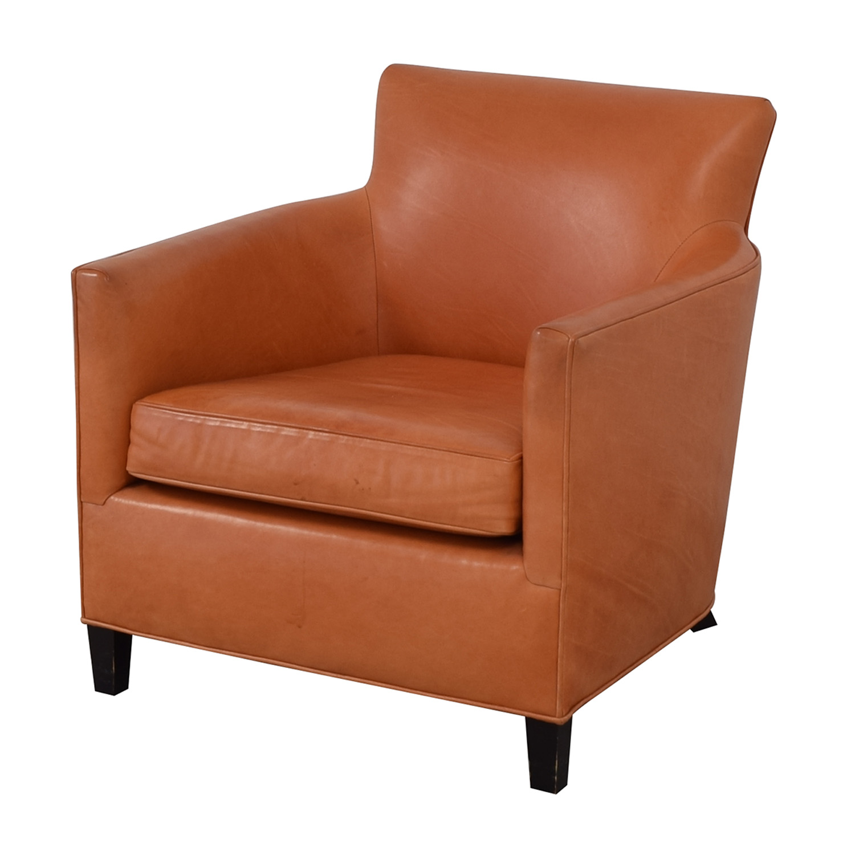 shop Crate & Barrel Orange Accent Chair Crate & Barrel Accent Chairs