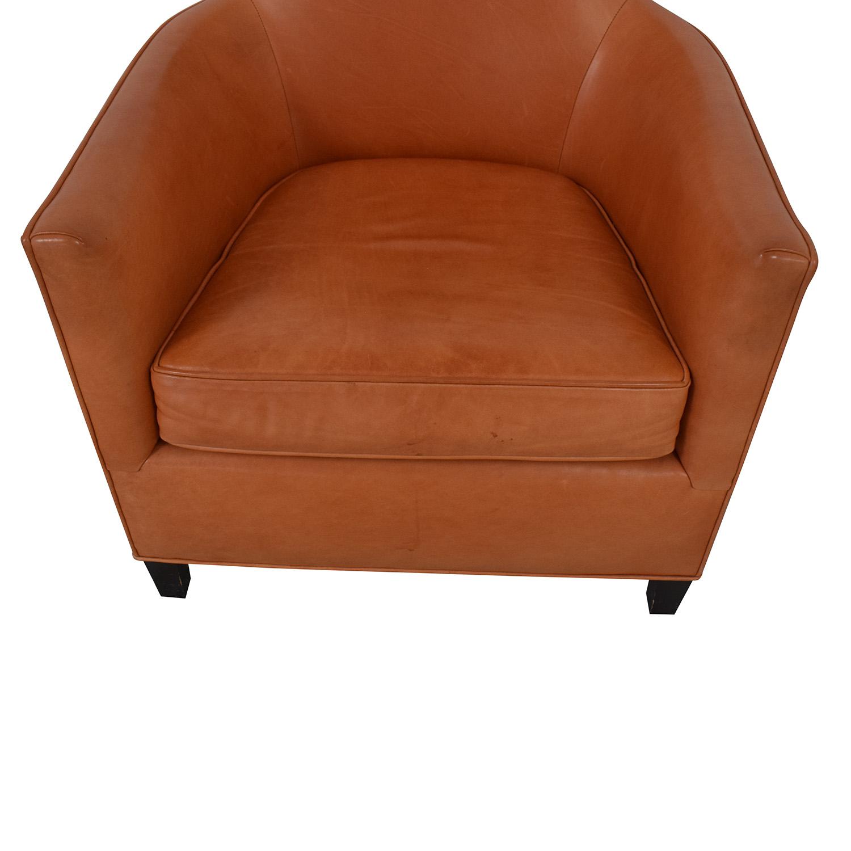 Crate & Barrel Crate & Barrel Orange Accent Chair for sale