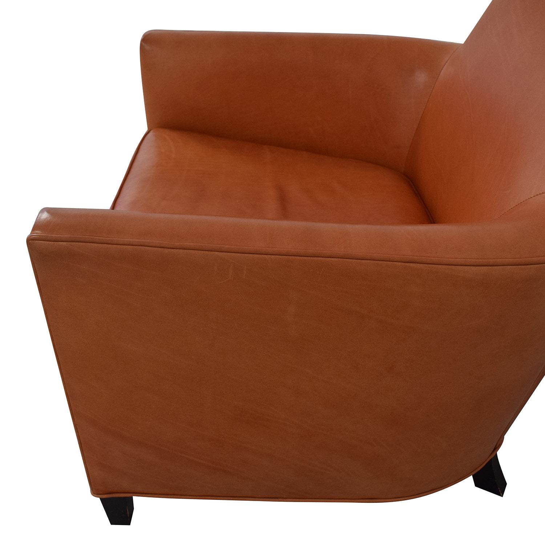 Crate & Barrel Crate & Barrel Orange Accent Chair nj