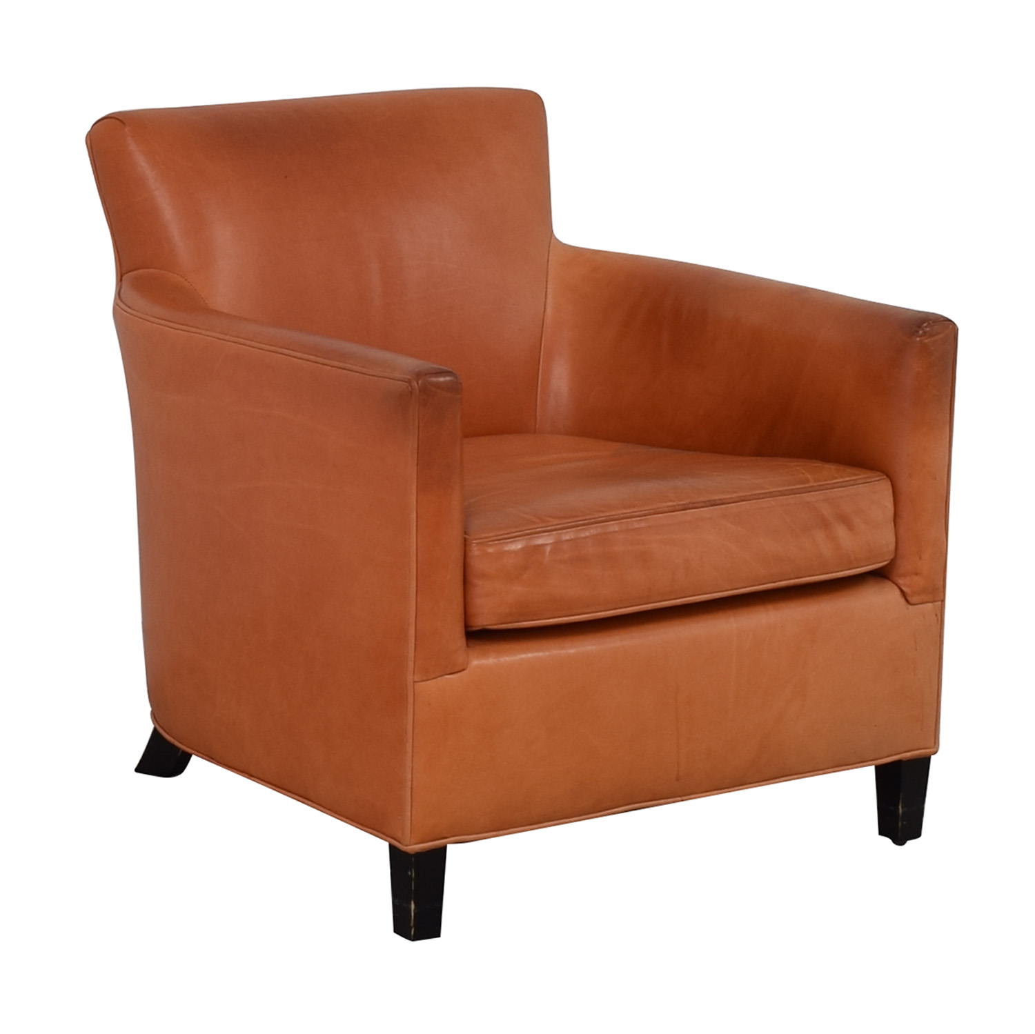 Crate & Barrel Orange Accent Chair / Accent Chairs