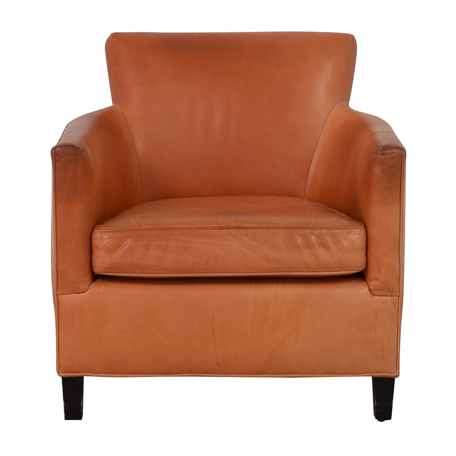 Crate U0026 Barrel Crate U0026 Barrel Orange Accent Chair Discount