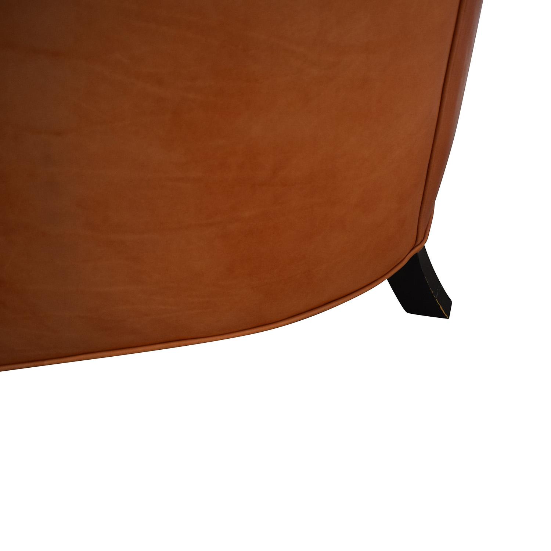 Crate & Barrel Orange Accent Chair sale